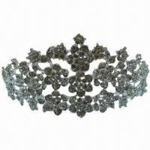 China Crystal rhinestone tiara/crown, pageant tiara wedding crown for bridal head-wear wholesale