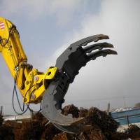 China Factory price hydraulic rock grapple/hydraulic stone grab for excavator wholesale