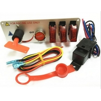 China RACING Carbon Fiber Racing Car 12V Ignition Switch Panel wholesale