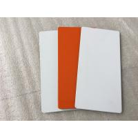 China White / Sliver Outdoor Aluminum Sign Panels 4mm Thickness With Fire Resistance wholesale