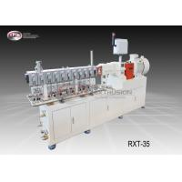 China Glass Fiber Lab Twin Screw Extruder PP PA PBT POM PET ABS / PEEK 35mm Diameter wholesale
