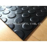 China Heavy duty non-slip 3mm coin stud mat round dot rubber sheet floor wholesale