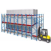 China Frozen Warehouse Shuttle Pallet Racking System Semi Automatic Racking wholesale
