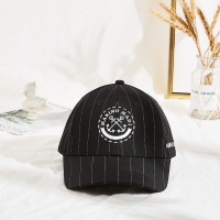 China Customised Design printing logo  Caps Hats Black Baseball Caps with metal buckle wholesale