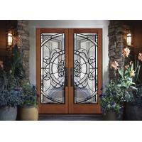 Buy cheap Removable Theft Proof Decorative Panel Glass Brass / Nickel / Patina Caming from wholesalers