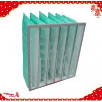 China Grade f7 secondary efficiency synthetic fibre  rigid pocket filter for air conditioner wholesale