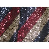 China Multi-Color Embroidered Shiny Sequin Fabric Azo Free For Evening Dress Designer wholesale
