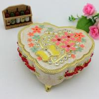 China Metal Enamel Music box Musical Jewelry Organizer Box for Valentine