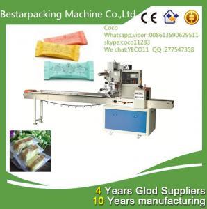 China Hard Candy  Horizontal pillow flow pack wrapping machine / hard candy sealing machine wholesale