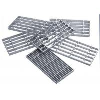 China Lattice Steel Grating Plate 30-50mm Bar Pitch Powder Coated Easy Installation wholesale