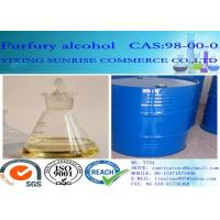 China Furfuryl Alcohol Foundry Chemicals CAS 98-00-0 Colorless To Light Yellow Transparent Liquid wholesale