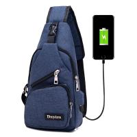 China USB Charging Single Strap Backpack Leisure Canvas Couple Version For Business Trip wholesale