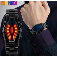 China Men Fashion Individual Blue and Red Dual Color Display  LED Wrist Watch With WR 50M 1082 wholesale