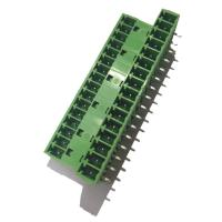 China 3.81 Pluggable Terminal Block , Male 3 * 16P Straight Right Angle Terminal Connector wholesale