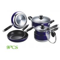 China Half-Polished 9pcs Nonstick Cookware Set With Induction Bottom wholesale