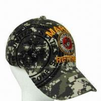 China Military/Baseball Cap with Embroidered Logo, Available in Various Colors wholesale