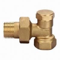 China Radiator Valve, Nickel-plated, with Forged Brass Body anfd Fittings (Costumized) wholesale