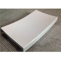 China Silver Grey 3mm Curved Custom Aluminum Panels Discoloration Resistant wholesale
