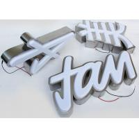 China Plastic 5730 Led Channel Letters 3mm Acrylic Panel With Vacuum Formed 3D Face wholesale
