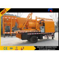 China Double - horizontal Shafts Mobile Concrete Batching Main Motor 37Kw wholesale