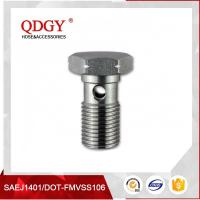 Quality STAINLESS STEEL MATERIAL BRAKE HOSE FITTINGS SINGLE BANJO BOLT M12 X 1.25 for sale