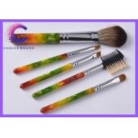 China Luxury gift Cosmetic 5 piece makeup brush set with Hot stamping , silkscreen logo wholesale