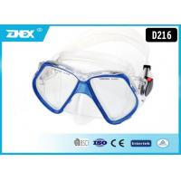 Tempered glasses Lens Silicone , PVC Strap Scuba Diving Mask with custom Logo