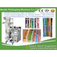 Quality Bestar new design liquid fruits syrup packaging machine,small scale juices and syrups pouch packaging for sale