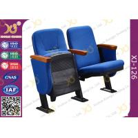 China Merit Stackable Church Hall Chairs , Plastic Covering Auditorium Chairs wholesale