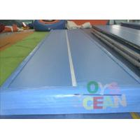 China DWF Inflatable Gymnastics Air Track Blue Tarpaulin Coating  Indoor And Outdoor wholesale