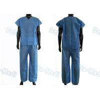 China Dustproof Non Toxic Medical Scrub Suit , Breathable Surgical Scrub Suits wholesale