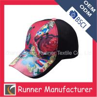 China Cheap Floral Printing Baseball Caps for Girl wholesale