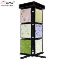 China Metal Mosaic Ceramic Tile Displays For Showrooms , 4 Sided Display Stand wholesale