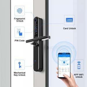 China Smart Fingerprint Digital Door Lock / Aluminum Sliding Door Lock wholesale