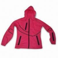 China Ladies' Jacket with Three-layer Soft Shell, Membrane and Knit Fabric wholesale