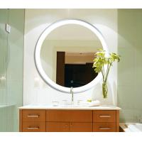 China LED Circular Frameless Bathroom Wall Mirrors Hanging Waterproof With Lights wholesale