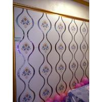 China White Bedroom Stained Decorative Glass Panels Easy Cleaning Stain Resistance wholesale