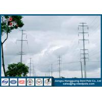 China 18m 230KV Polygonal Electric Steel Tubular Pole For Overhead Project wholesale