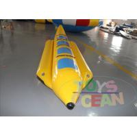 China 4 Players Yellow Inflatable Banana Boat Inflatable Water Ski Tubes For Water Game wholesale