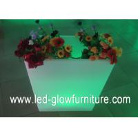 China Multi - purpose LED Flower Pots container / vase cube or bucket with remote control wholesale