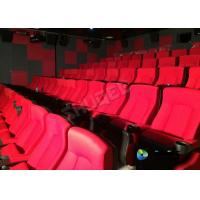 Quality Red 3D Movie Cinema / Movie Theatre Seats With Vibration System CE Approval for sale
