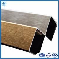 China Brushed Gold Color Anodized Aluminum Angle Profiles for Decoration Material wholesale