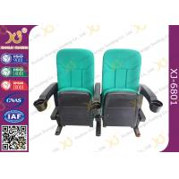 China Multi Color Plastic Folded Theater Stadium Seating With Cup Holder OEM / ODM wholesale