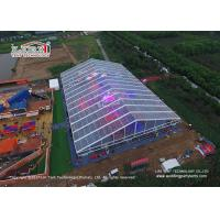 China 500 Guests Luxury Wedding Tents Transparent Tent With Glass Walls Lining Curtain wholesale