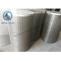 China 304 SS Johnson Wedge Wire Screen  Groundwater Wells V Shape For Drum FIlter wholesale
