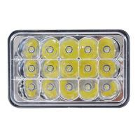 China 5 Inch 45W Square Jeep LED Headlights High Low Beam Jeep Front Lights wholesale
