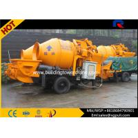 China Electric Hydraulic Concrete Mixer With Pump , Concrete Block Machines 40m³/H Output wholesale