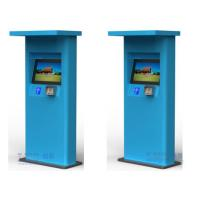 China Waterproof Free Standing Half Outdoor Kiosk for Mutil Payment Function Bule Green Color wholesale