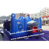 China 0.55mm PVC Tarpaulin Small Plant Garden Inflatable Fun City Playground By Sewing wholesale