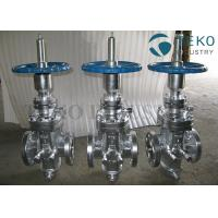 China Butt Weld Wedge Gate Valve , Self - Tightening Slab Expanding Gate Valve For Natural Gas wholesale